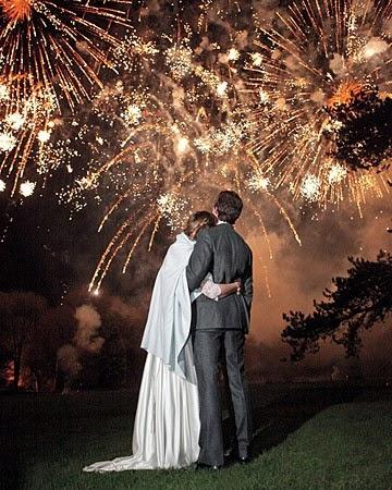 Wedding Fireworks Colored Sparklers or Gold Sparklers?