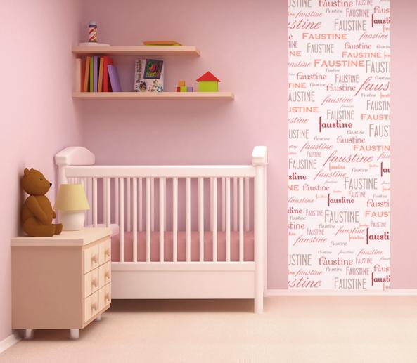 papier peint chambre b b. Black Bedroom Furniture Sets. Home Design Ideas
