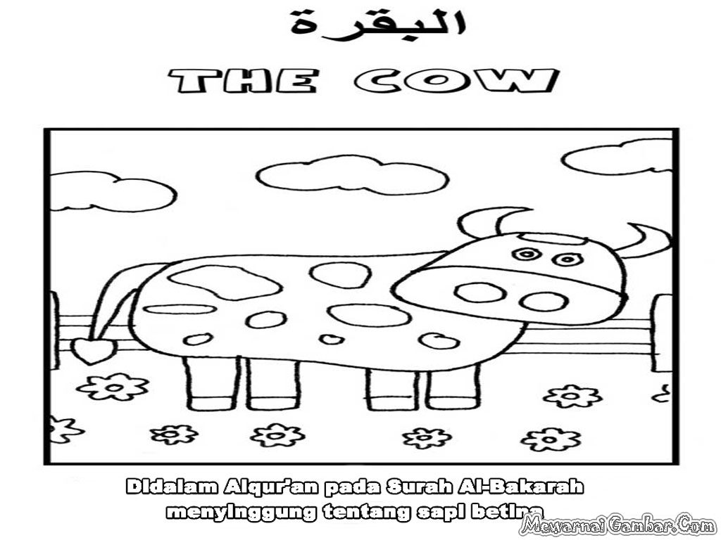 Mewarnai Binatang Dalam Al Quran Mewarnai Gambar