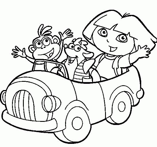 Belajar Mewarnai Gambar Dora Dan Boots Untuk Anak