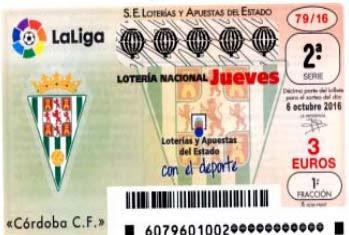 Loteria Nacional del jueves 6 de octubre de 2016