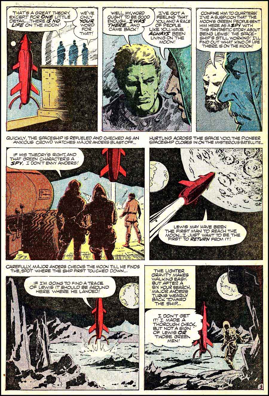 World of Suspense v1 #3 atlas comic book page art by Al Williamson
