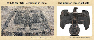 9000-year-old Sindhudurg petroglyph depicting the Imperial Eagle symbol