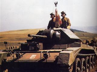 WW2 1st Polish Armoured Division 10th Mounted Rifles Regiment at Haddington 29.4.1943. Regimental Day