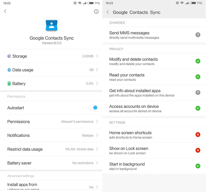 Xiaomi MIUI पर Google contacts को synchronize कैसे करें