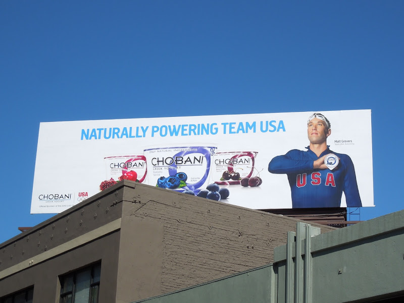 Chobani Team USA billboard