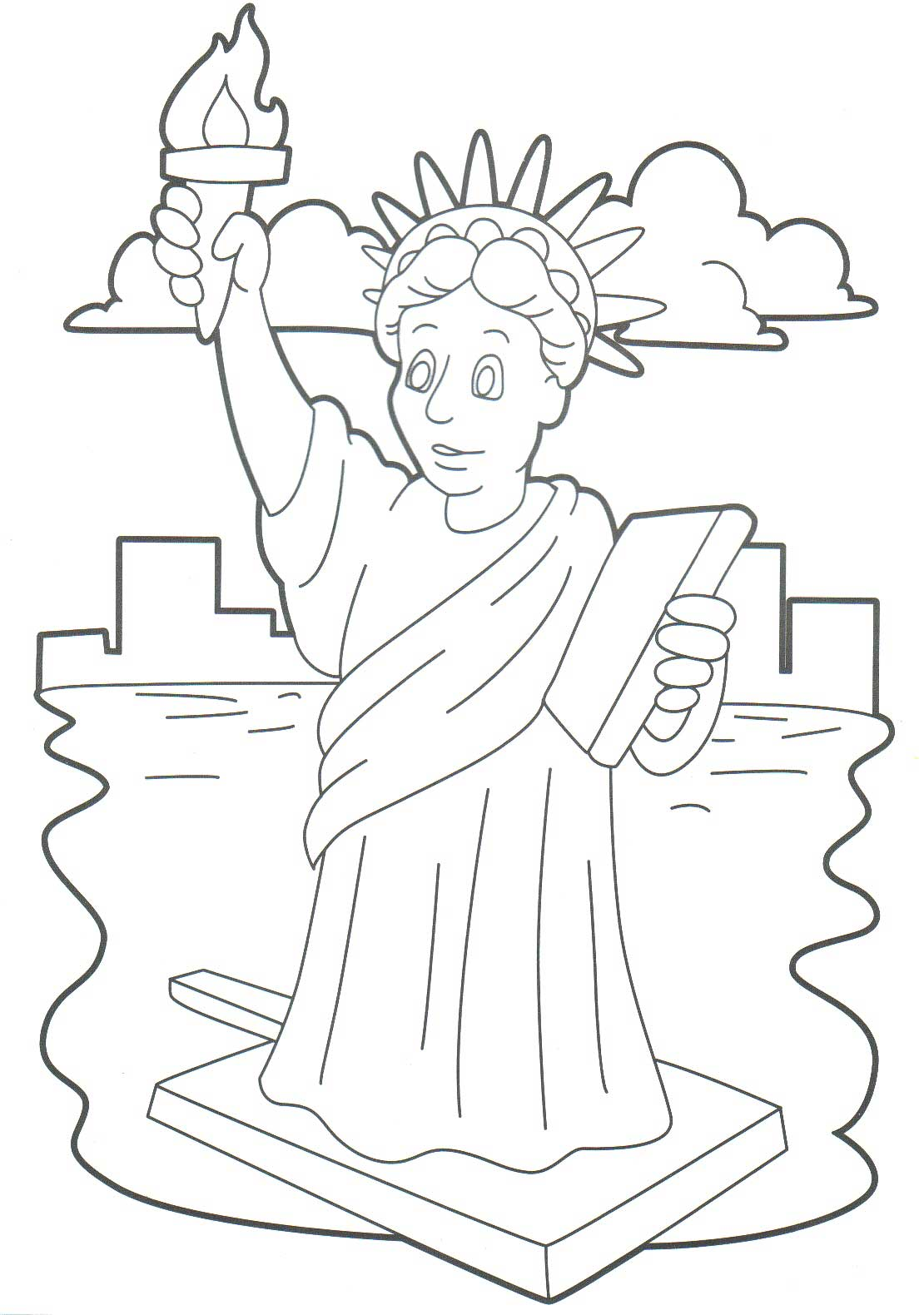 Intrepid image for statue of liberty printable