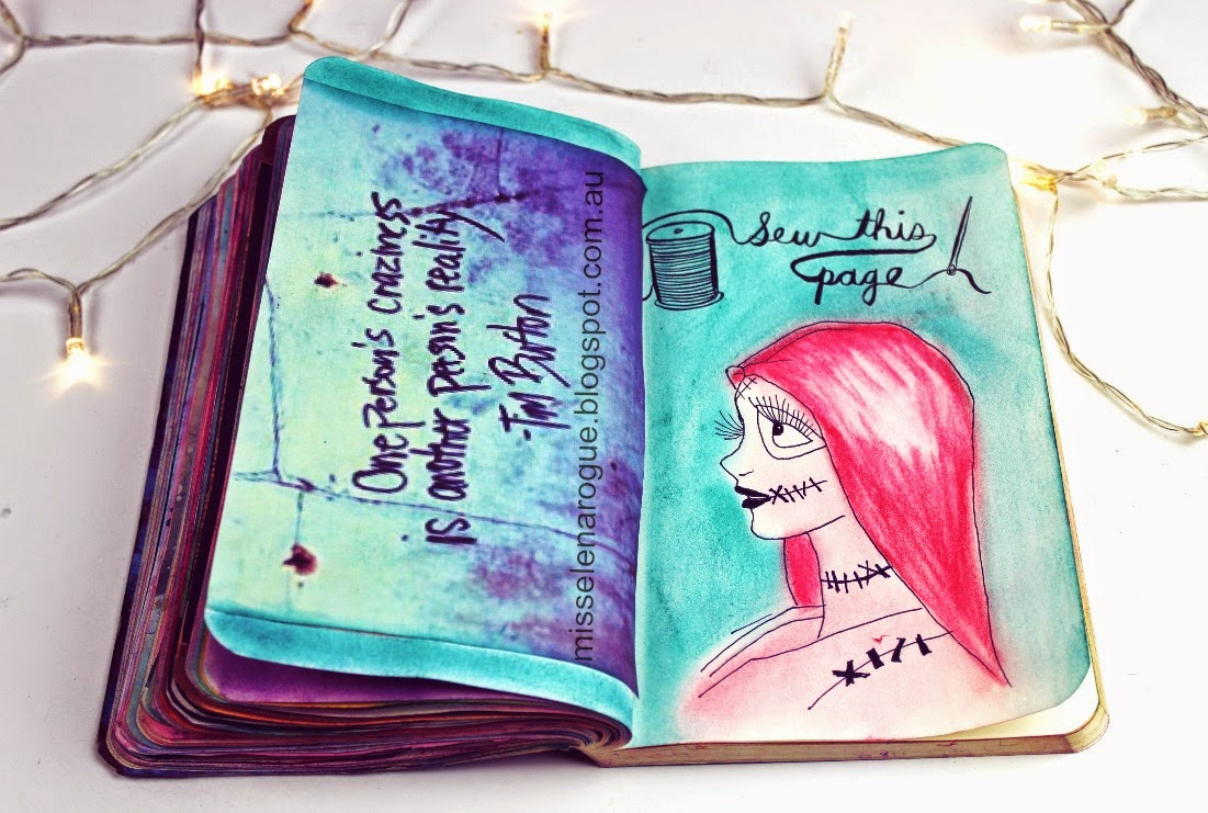 Elena Rogue: Wreck this journal update #6  Wreck This Journal Sew This Page