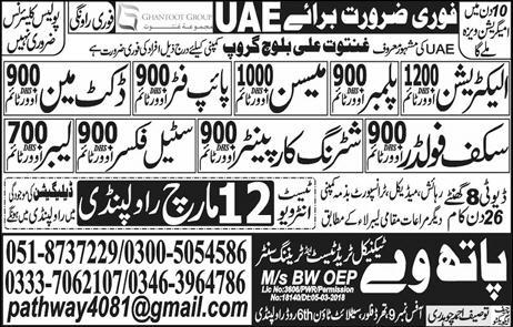 Pathway announced jobs for UAE 10 Mar 201