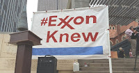 Environmentalist rallied outside an Exxon shareholders' meeting on May 25.(Credit: RL Miller/Climate Hawks Vote) Click to Enlarge.