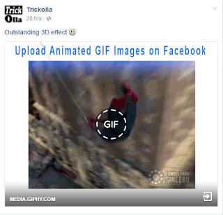 upload gif images in facebook