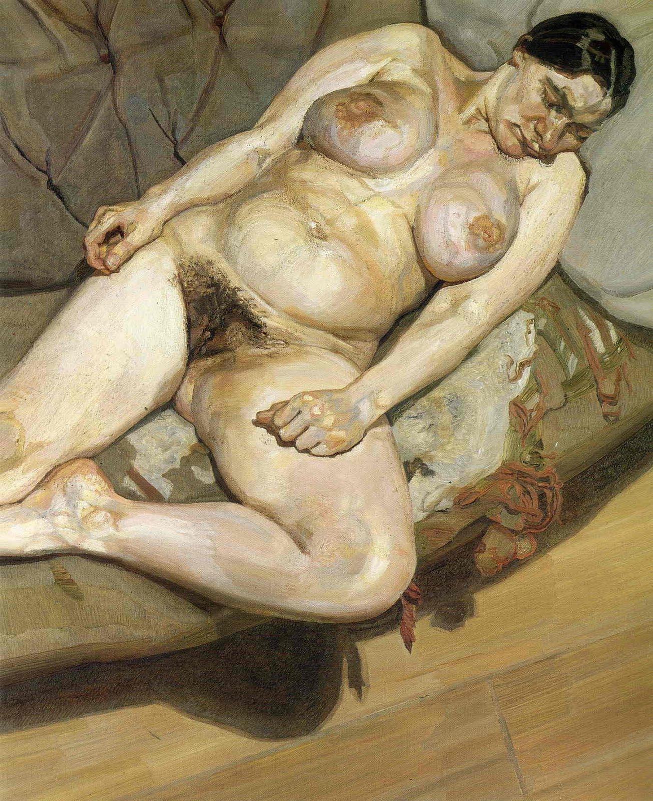 Lucian freud naked portrait remarkable, rather