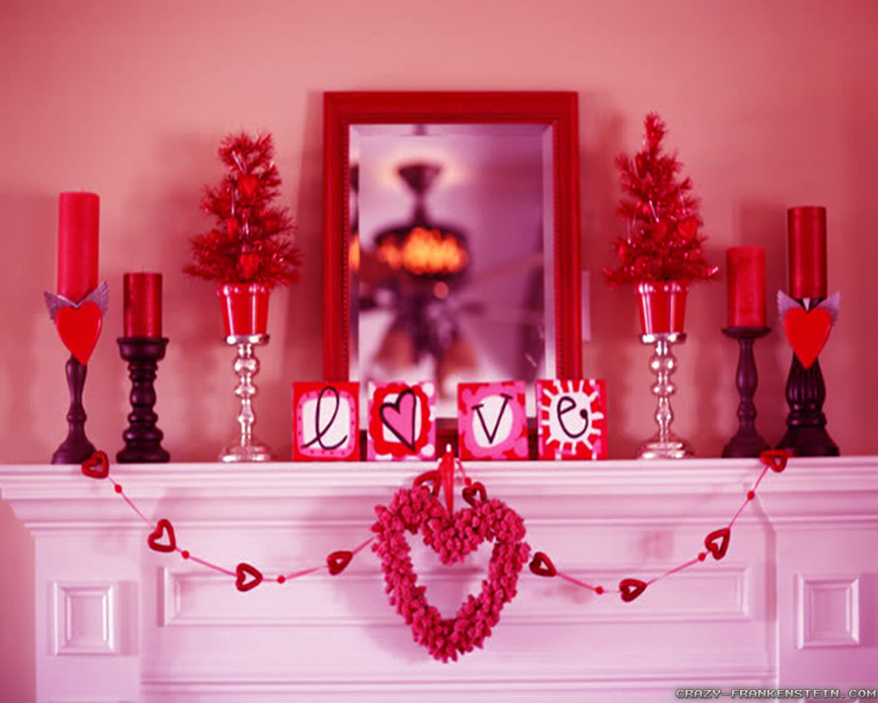 Wall Colour Inspiration: Eager Hands: Valentine's Day Decorating Ideas