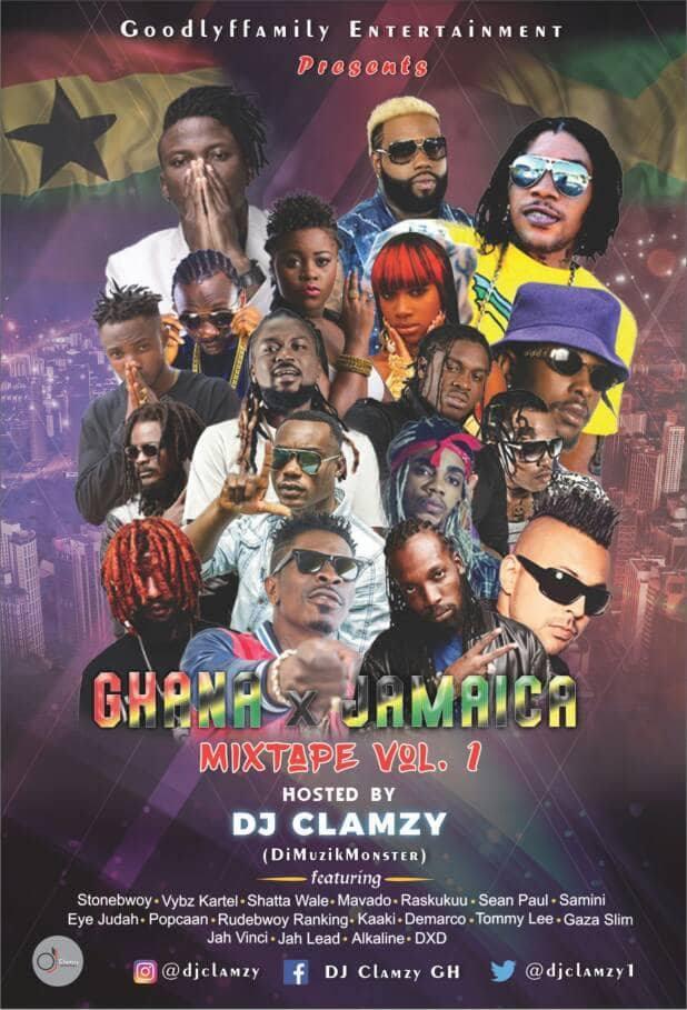 Download Mixtape: (Ghana X Jamaica) Mixtape Vol  1 - Hosted By DJ