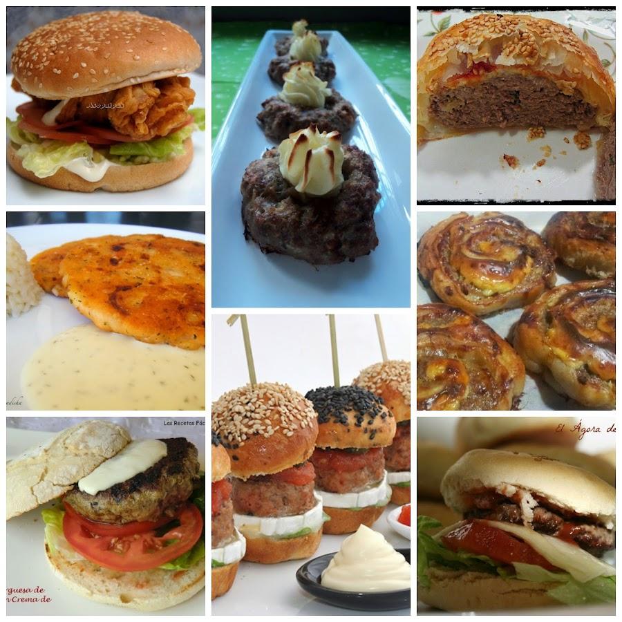 8 Hamburguesas Para Una Cena Entre Amigos O Para Ver El Partido  ~ Menu Para Cena Con Amigos En Casa