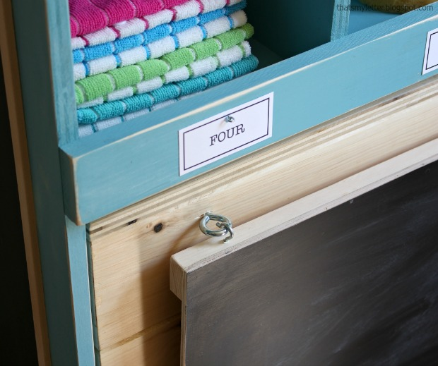 diy pretend play market rolling counter chalkboard sign