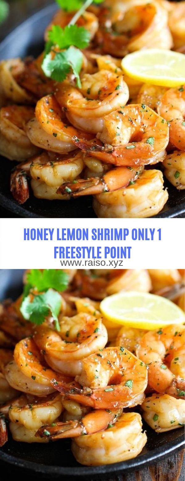 WEIGHT WATCHERS HONEY LEMON SHRIMP ONLY 1 FREESTYLE POINT