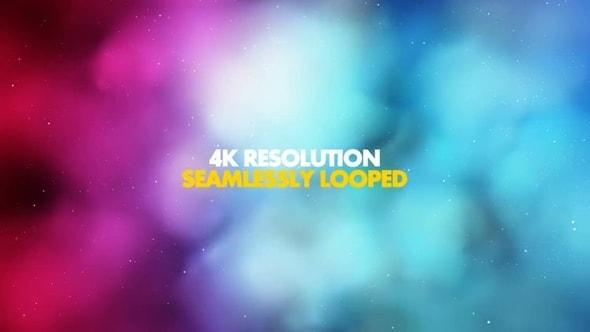 لقطات للمونتاج - 4 فيديوهات للغيوم السحرية الملونة جودة عالية