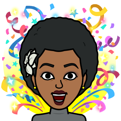 Bitmoji of Excited Ramatu Ada