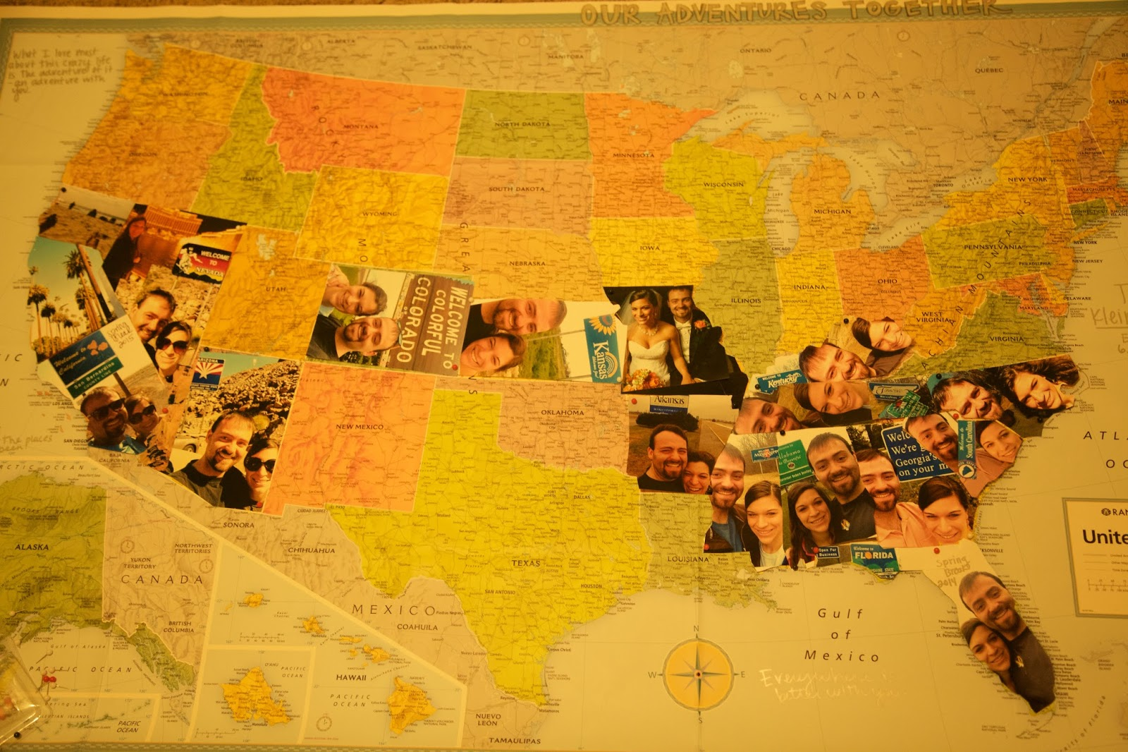 what better way to track your travels across the nation than with a travel photo map heres how to make your own