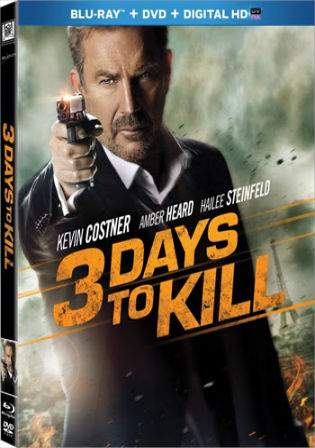 3 Days To Kill 2014 BRRip 350MB Hindi Dual Audio 480p Watch Online Full Movie Download bolly4u
