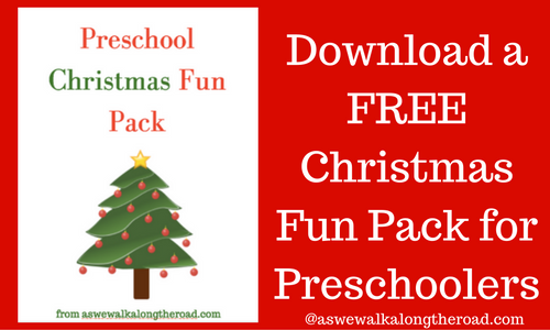 Free Christmas printable pack for preschool