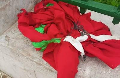 سطات.. إحراق العلم الوطني يقود 6 قاصرين الى السجن