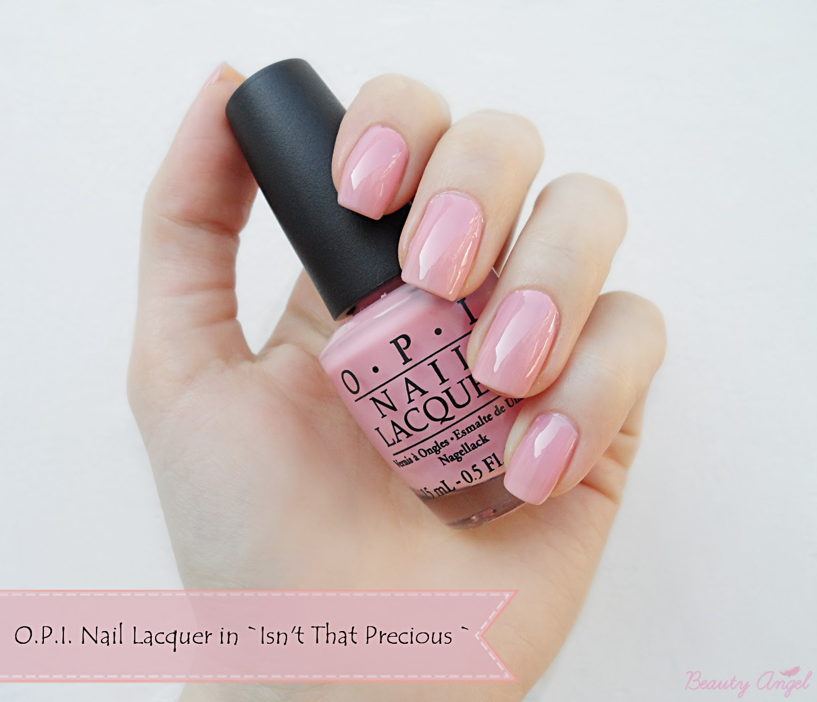 pink nails baby pink manicure opi nails classics collection nail polish
