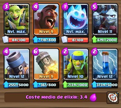 5 Mazo con Mortero  Clash Royale