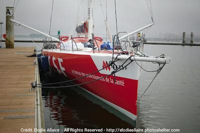 MACSF de retour à Lorient suite à son abandon sur le Vendée Globe