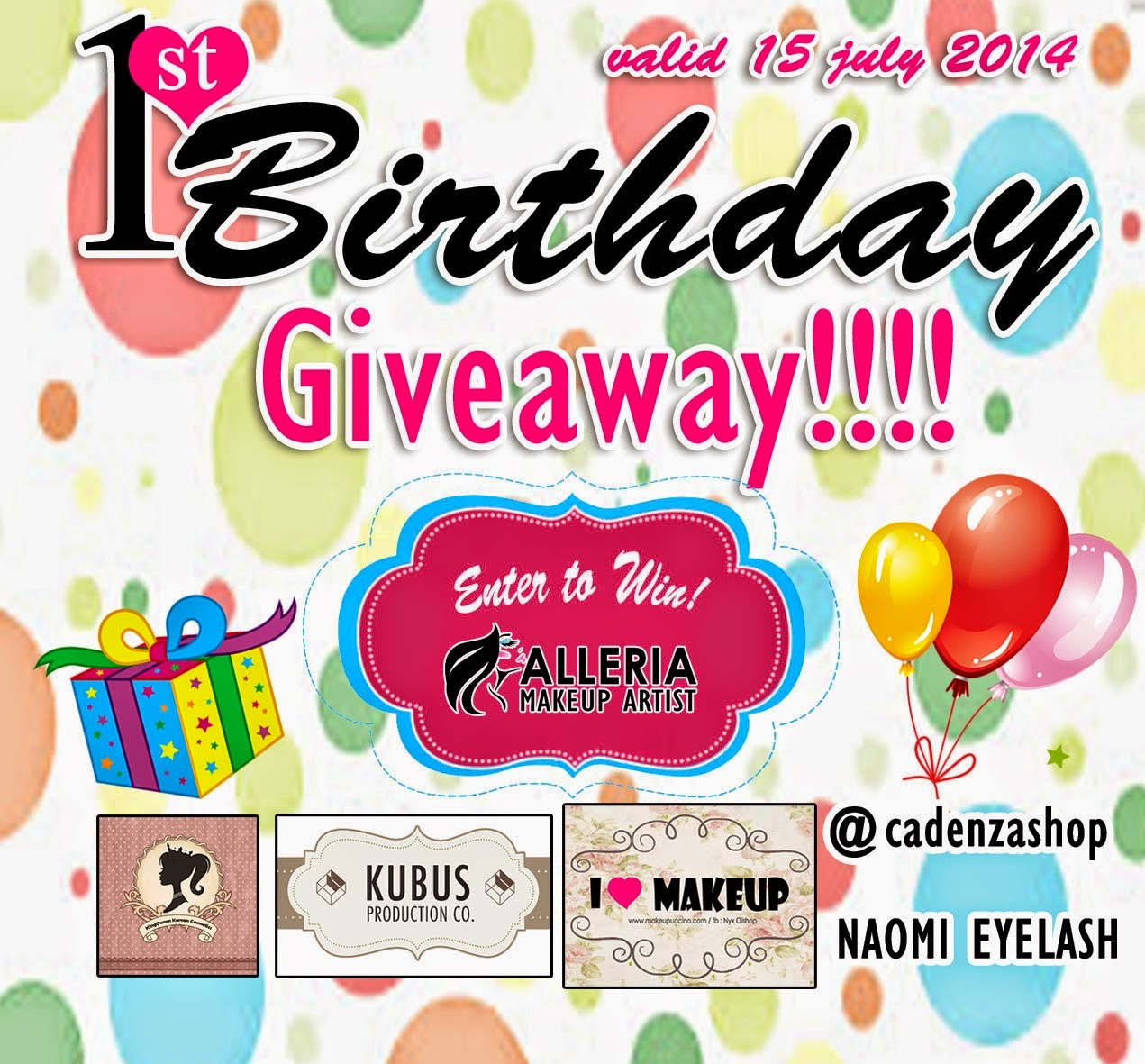 Alleria 1st Birthday Giveaway
