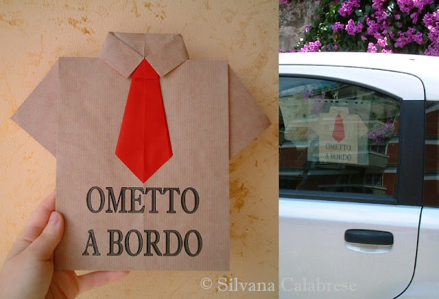 Bimbo a bordo maglietta camicia cravatta origami Auto - Blog