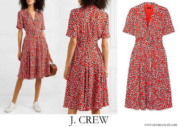 Crown Princess Victoria wore J. CREW Rudbeckia printed crepe dress