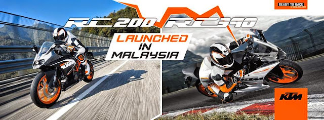 KTM RC200 Dan KTM RC390 ABS 2015 Di Lancarkan Di Malaysia - Harga Asas RM16,888 Dan RM27,500