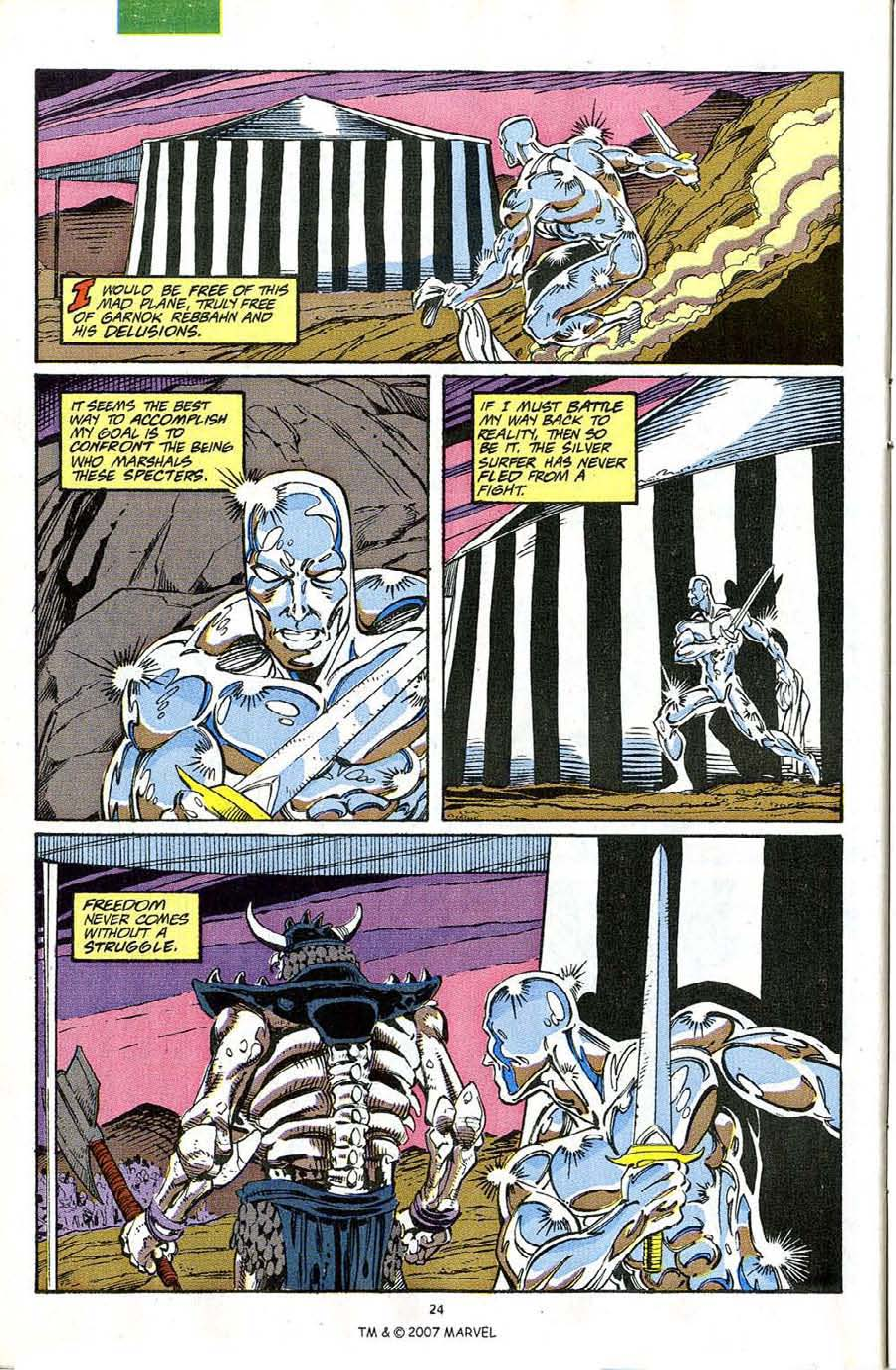 Read online Silver Surfer (1987) comic -  Issue #63 - 26