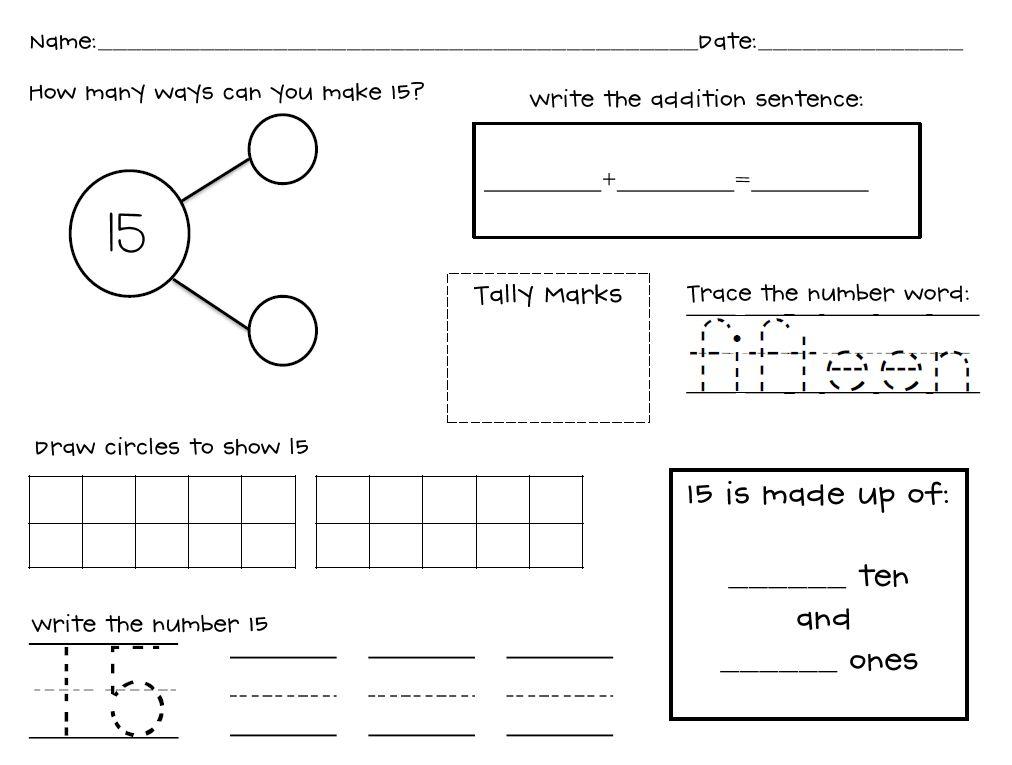 Kindergarten Stars: Composing And Decomposing Numbers