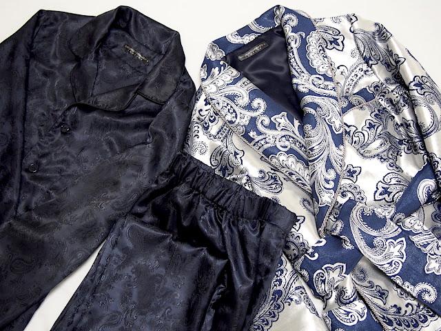 mens dressing gown paisley silk robe pajamas gentleman english victorian style