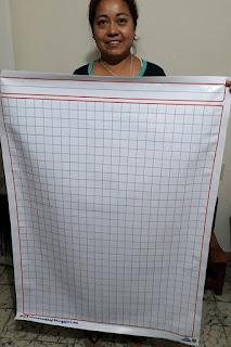 lona cuaderno hoja cuadros grandes