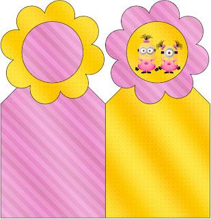 Para marcapáginas de Minions Chicas