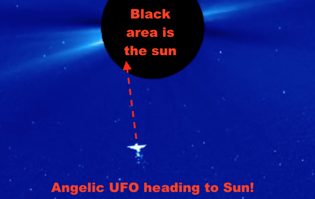 Giant Angelic UFO Followed By Small Armada Of UFOs Near Earths Sun Angels%252C%2Bangelic%252C%2BUFO%252C%2Bsighting%252C%2Bsun
