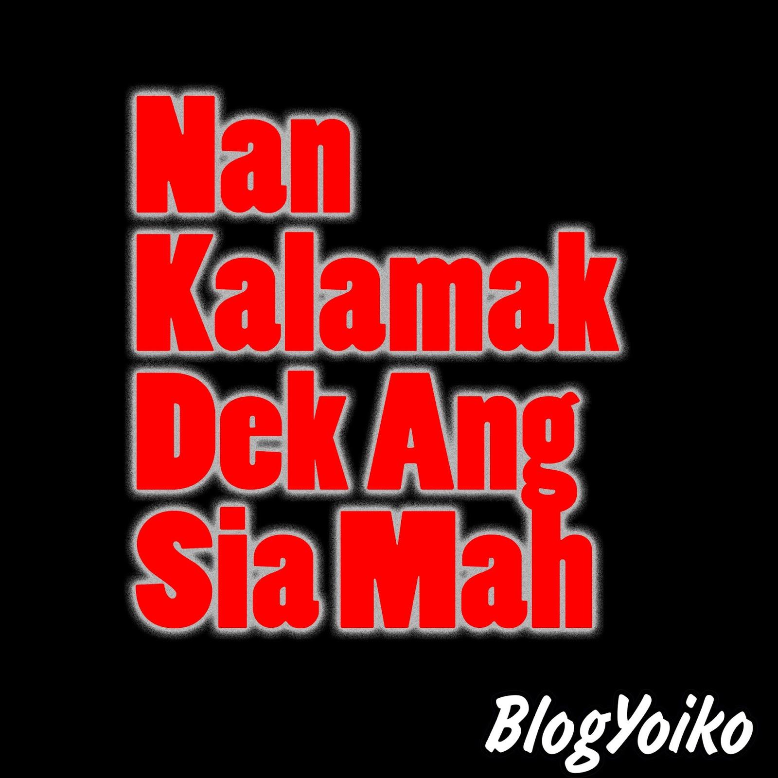 Gambar DP BBM Lucu Bahasa Minang Blog Yoiko