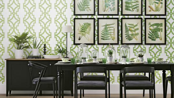 Choose A Striking Geometric Patterned Wallpaper For Your Dining Room Pattern With White Background Will Keep The Looking Fresh And Contemporary