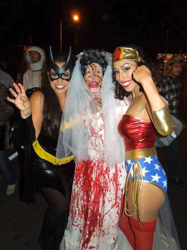 Bat Girl Wonder Woman costumes West Hollywood Halloween