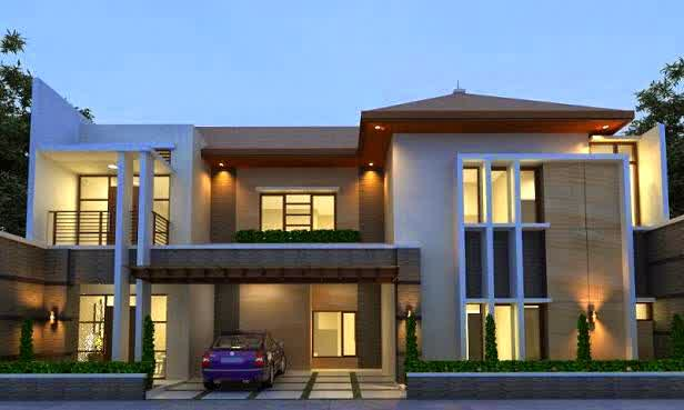 Contoh Desain Rumah Minimalis  2 Lantai