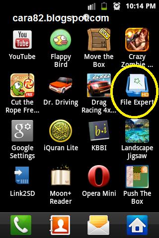 Cara BackUp Aplikasi Android dengan File Expert