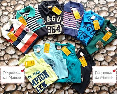 lotes de roupa infantil e infanto juvenil