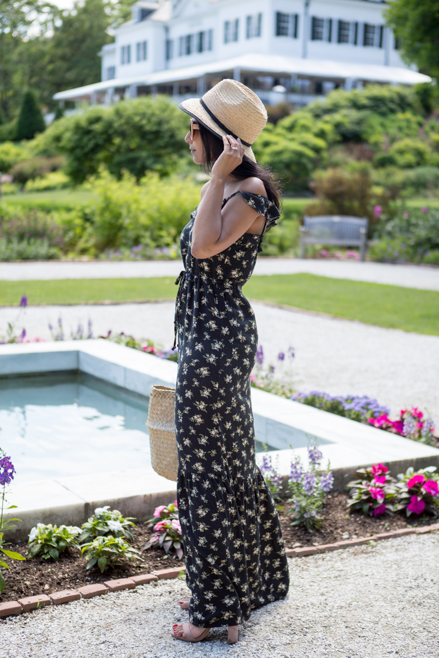 floral, floral dress, summer style, travel, new england, berkshires, travel guide, what to do in the berkshires, feminine style, affordable style, petite fashion, american eagle outfitters, asos, vacation style