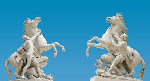 Caballos De Marly Por Guillaume Coustou Barroco Tardio Rococo