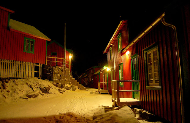 Lofoten and Kabelvåg laid in snow. Top five travel destinations