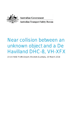 Near collision between an unknown object and a De Havilland DHC-8 (Report Cover) 3-19-14